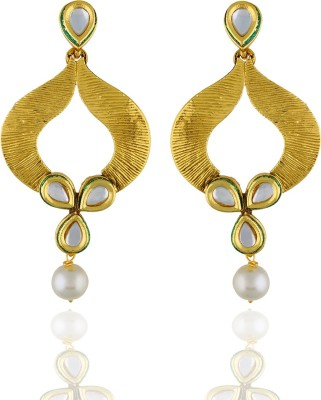 One Stop Fashion Smart Trendy Gold Plated Alloy Earrings Alloy Drop Earring