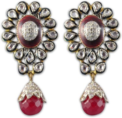 Swanvi Red for Love Alloy Drop Earring