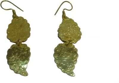 Pinak Double Leaf Metal Dangle Earring