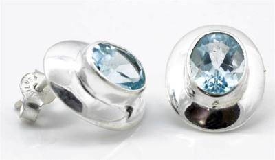 YugshaJewels Topaz Silver Stud Earring