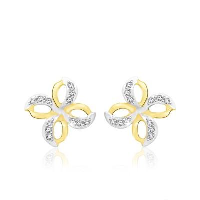 Sparkles Beautiful Yellow Gold 18kt Diamond Stud Earring