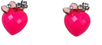 Uzuri Little Heart Copper Stud Earring