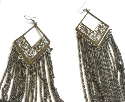 Arkina Diamonds Black Dangling Brass Dangle Earring