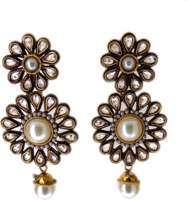 Aabhushan Pearl, Crystal Alloy Drop Earring