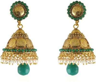 Vastradi Coin Laxmi Jhumka Brass, Alloy Jhumki Earring
