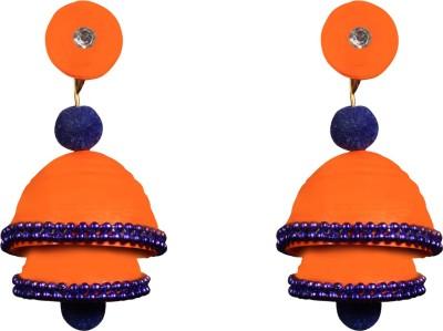 Scion Orange Luster Quilling Paper Jhumki Earring