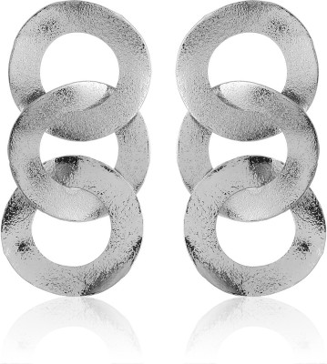Thingalicious Oversized Interlinked Circles Alloy Drop Earring