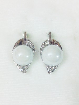 maya creation WHITE MENGO German Silver Drop Earring