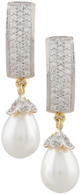 Vama Ering Cubic Zirconia Alloy, Brass Drop Earring