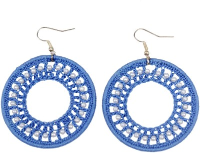 Carolz Jewelry Tatted wonder Fabric Dangle Earring
