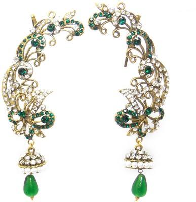 MKJewellers Peacock Ear Cuffs 6950 Brass Cuff Earring