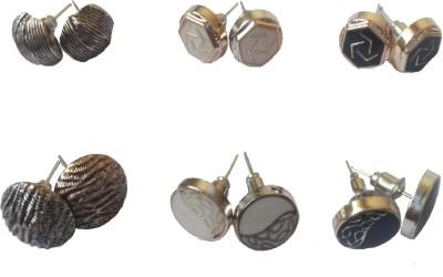 LatestQ Metal Earring Set