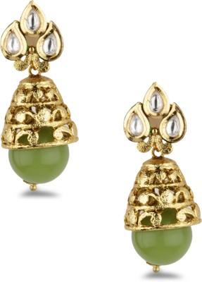 Bridesmaid Crystal Copper Jhumki Earring