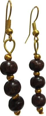 DCS Block Wood Drop Earring