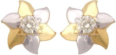 The Gems Gallery Moissani-Earring-001 Sterling Silver Stud Earring