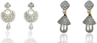 Rashi Jewellery AD Combo 7 Brass Earring Set