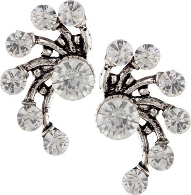 Castle Street Diamond Ear Jacket Alloy Cuff Earring