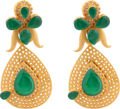 Raaj Ranee Art Jewellers GL001 Brass Drop Earring