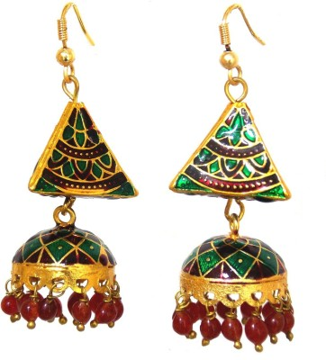 Red Gold JALWA_39 Metal Jhumki Earring