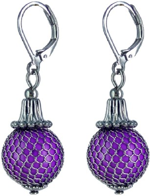YUVEN Color Beads With Net Alloy Clip-on Earring