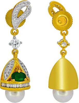 The Fine World Contemporary With Little Gold Zircon Metal Jhumki Earring