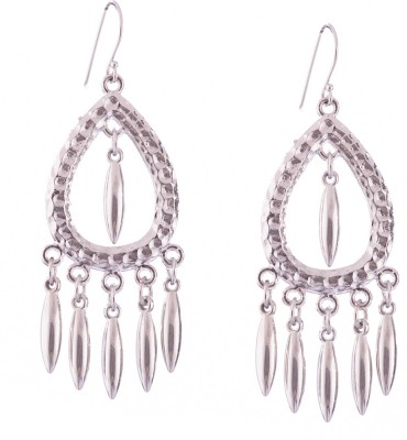 Trinketbag Silver elliptical metal Alloy Dangle Earring