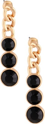 Sparkling Trinkets Gold Toned Pair Metal Drop Earring