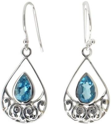 Aabhushan Aabhushajewels Topaz Sterling Silver Dangle Earring