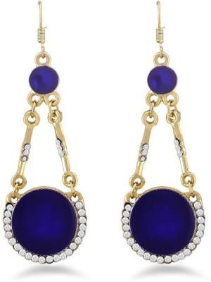 Jazz Jewellery Jazz JewelleryDesignerBlue& White StoneBrass DangleEarring Alloy Drop Earring