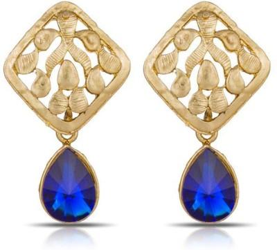 Luxor Blue Designer Alloy Drop Earring