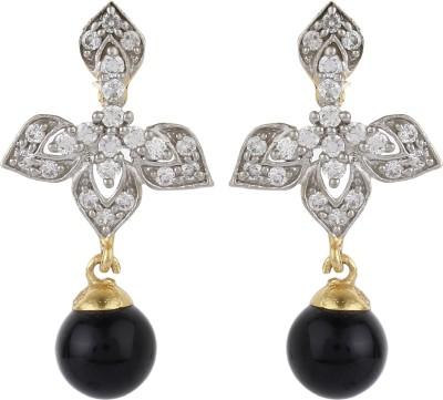 Dilan Jewels Black Droplets Zircon Alloy Drop Earring