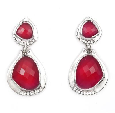 Magiq Beautina Stone, Brass Drop Earring