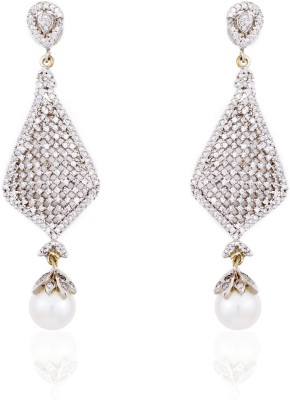 Aapno Rajasthan Cubic Zirconia Alloy Dangle Earring
