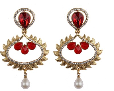 Aashvi Creation Fashion Pearl Alloy Chandbali Earring