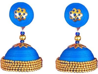 Jyotis Creations Blue Alloy Jhumki Earring