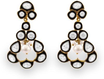 SuvidhaArts Stunning Fashion Cubic Zirconia Metal Drop Earring