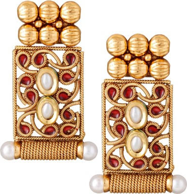 Varaagk Spring Sparkle Brass Drop Earring