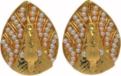 Gliteri Peacock with beads Metal Clip-on Earring