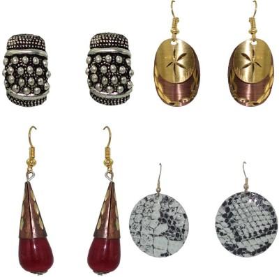 Anjan Exclusive Combo 4 Piece Brass Earring Set