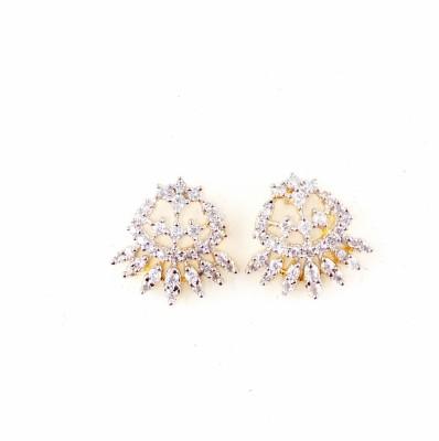 Parshwa Jewellery A.D Earrings Cubic Zirconia Brass Stud Earring