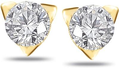 Sparkles Real Diamonds Beautiful Yellow Gold 18kt Diamond Stud Earring