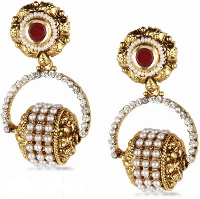 Bridesmaid Cubic Zirconia Copper Chandelier Earring