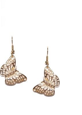 ToniQ Butterfly Metal Dangle Earring