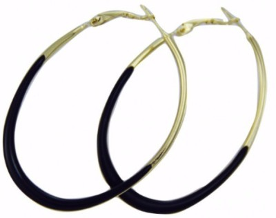 Fashion Berg Accessories BLACK BALLIE Alloy Hoop Earring