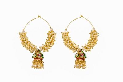 Adrisya Festive Jhumka Alloy Jhumki Earring