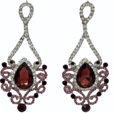 WoW Brown Cubic Zircon Crystal Drop Earring