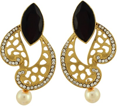 Asmara Designer Filigree Paisley Alloy Drop Earring