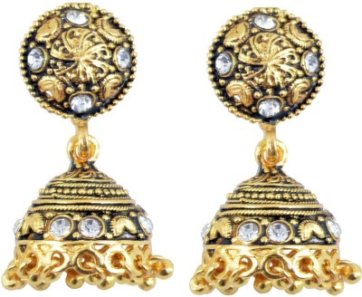 Diovanni Fashion Diva,S Golden Metal Jhumki Earring