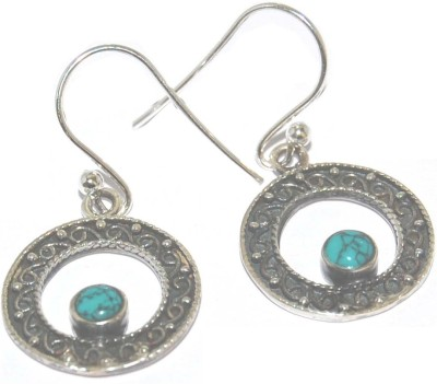 Arvino Small World Turquoise Sterling Silver Dangle Earring