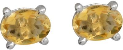 YugshaJewels Elegant YJE-1653 Citrine Sterling Silver Stud Earring